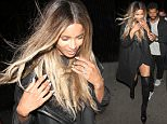 Ciara And Russell Wilson Brave The Wind As They Leave The Nice Guy Club in West Hollywood  Pictured: Ciara And Russell Wilson Ref: SPL1264586  150416   Picture by: Photographer Group / Splash News  Splash News and Pictures Los Angeles: 310-821-2666 New York: 212-619-2666 London: 870-934-2666 photodesk@splashnews.com