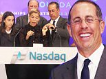 April 14, 2016: Sascha Seinfeld, Jessica Seinfeld, Jerry Seinfeld ring the Nasdaq Opening Bell for GOOD + Foundation at NASDAQ in New York City.\nMandatory Credit: Roger Wong/INFphoto.com Ref: infusny-14604 14,  2016: Sascha Seinfeld, Jessica Seinfeld and Jerry Seinfeld foundation Good + Foundation Rings the Opening NASDAQ at NASDAQ Time Square in New York. Credit:RW/MediaPunch