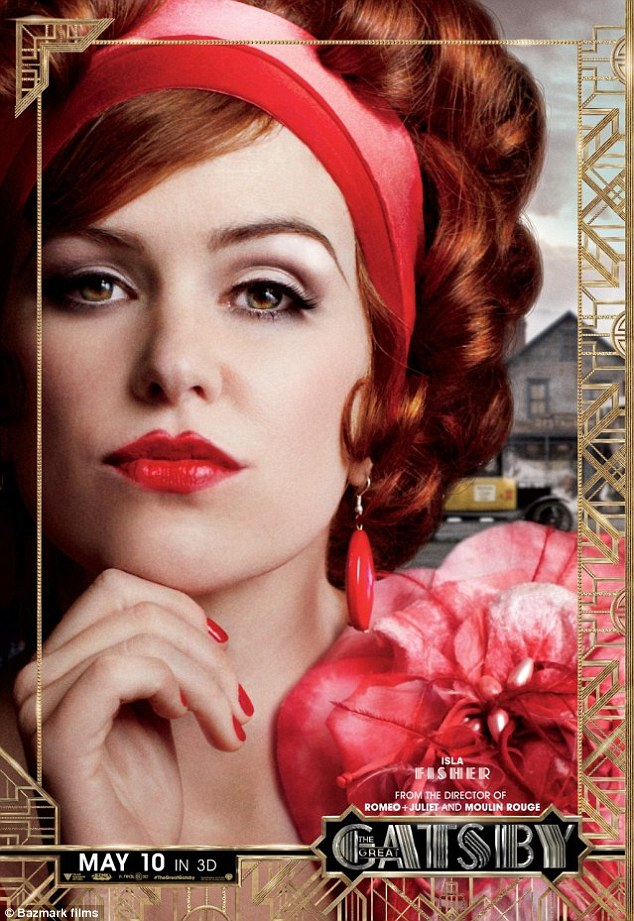 Pivotal role: Isla stars in the upcoming movie The Great Gatsby opposite Leonardo DiCaprio, Carey Mulligan and Tobey Maguire