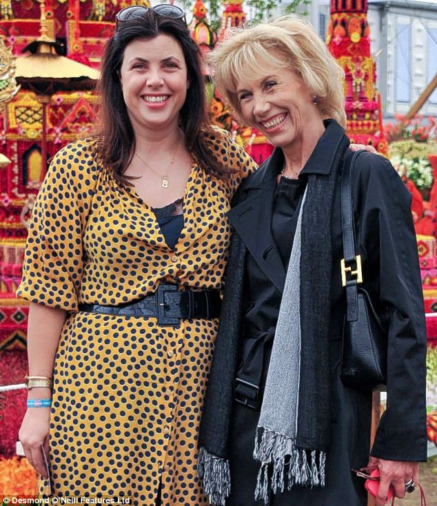 TV presenter Kirstie Allsopp, pictured with her mother Lady (Fiona) Hindlip in 2011. Lady Hindlip died after a long battle with breast cancer earlier this year
