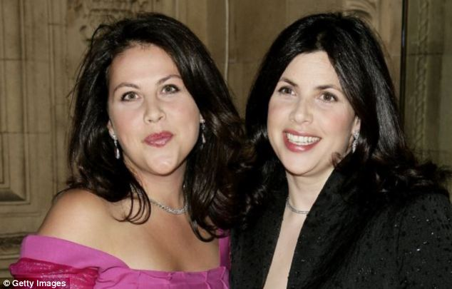 Miss Allsopp disclosed that her younger sister Sofie, left, also a TV presenter, had undergone a double mastectomy to prevent breast cancer