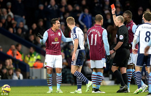 Richardson (left) was sent off for Villa following the challenge and it was a correct decision by the official