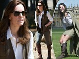 Made for walking! Kate dons a pair of trusty £475 knee-high boots she's been wearing for more than a decade as she undertakes a three-hour hike with Prince William in Bhutan  Kate, 34, wore a pair of leather knee high Penelope Chilvers boots she was first spotted in in 2004 Wore boots to Game Fair at Blenheim Palace in August 2004 Was spotted in them again at  Gatcombe Park Festival of Eventing a year later Undertook three hour-hike to Tiger's Nest monastery with Prince William this morning  See more of the latest news and updates from Kate Middleton and Prince William's tour of India By SIOFRA BRENNAN FOR MAILONLINE PUBLISHED: 05:57 EST, 15 April 2016 | UPDATED: 10:05 EST, 15 April 2016       1.4k shares 272 View comments When you have a three hour hike ahead, you need some trusty boots to ensure you won't get blisters. And today the Duchess of Cambridge relied on a favourite pair as she made the long trek to the famous Tiger's Nest monastery in Bhutan with Prince William.  Kate, 34,
