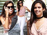 Picture Shows: Sara Sampaio  April 13, 2016\n \n Model Sara Sampaio is spotted out for lunch in Beverly Hills, California. The star was seen looking stylish in a pink top and white pants with her midriff showing.\n \n Non Exclusive\n UK RIGHTS ONLY\n \n Pictures by : FameFlynet UK © 2016\n Tel : +44 (0)20 3551 5049\n Email : info@fameflynet.uk.com