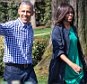On Monday, March 28, l-r, President Barack Obama, and First Lady Michelle Obama walk around the South Lawn of the White House for the 138th Annual Easter Egg Roll, in Washington DC, on March 28, 2016. (Photo by Cheriss May/NurPhoto via Getty Images)