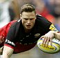 Saracens' Chris Ashton scores a try during the Aviva Premiership match at Wembley Stadium, London. PRESS ASSOCIATION Photo. Picture date: Saturday April 16, 2016. See PA story RUGBYU Saracens. Photo credit should read: Steve Paston/PA Wire. RESTRICTIONS: Use subject to restrictions. Editorial use only. No commercial use. Call +44 (0)1158 447447 for further information.