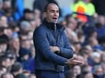 Everton Manager Roberto Martinez urges his players on during the Barclays Premier League match between Everton and Southampton played at Goodison Park, Liverpool on 16th April 2016