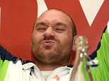 Mandatory Credit: Photo by TGSPhoto/REX/Shutterstock (5636478o) Tyson Fury during a Frank Warren Promotions Press Conference at the Landmark Hotel on 13th April 2016 Frank Warren Promotions Press Conference, Boxing, Landmark Hotel, London, United Kingdom - 13 Apr 2016