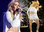 INDIO, CA - APRIL 15:  Singer-songwriter Ellie Goulding performs onstage during day 1 of the 2016 Coachella Valley Music & Arts Festival Weekend 1 at the Empire Polo Club on April 15, 2016 in Indio, California.  (Photo by Kevin Mazur/Getty Images for Coachella)