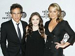 "Mandatory Credit: Photo by Patrick Lewis/Starpix/REX/Shutterstock (5647493x) Ben Stiller, Ella Olivia Stiller, Christine Taylor 'Little Boxes' film premiere, Tribeca Film Festival, New York, America - 15 Apr 2016 -  New York, NY - 4/15/16 - World Premiere of ""LITTLE BOXES"" at the 2016 Tribeca Film FestivalFestival -Pictured: Ben Stiller, Ella Olivia Stiller, Christine Taylor -Photo by: Patrick Lewis/Starpix"