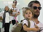 CHRIS HEMSWORTH & ELSA PATAKY ARRIVE HOME IN BRISBANE WITH DAUGHTER INDIA ROSE\nEXCLUSIVE\n16 April 2016\n©MEDIA-MODE.COM