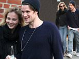 Picture Shows: Matt Smith  April 15, 2016    'Doctor Who' actor Matt Smith is spotted out for lunch with friends in New York City, New York. Matt could be seen chatting to a female friend as he made his way back to his hotel.     Non Exclusive  UK RIGHTS ONLY    Pictures by : FameFlynet UK © 2016  Tel : +44 (0)20 3551 5049  Email : info@fameflynet.uk.com
