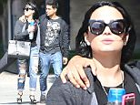 *EXCLUSIVE* West Hollywood, CA - Demi Lovato and Wilmer Valderrama spend some quality time together as they leave the Pacific Design Center. The two lovebirds are seen walking with their arms wrapped around each other as they laugh and joke around.\n  \nAKM-GSI       April 14, 2016\nTo License These Photos, Please Contact :\nSteve Ginsburg\n(310) 505-8447\n(323) 423-9397\nsteve@akmgsi.com\nsales@akmgsi.com\nor\nMaria Buda\n(917) 242-1505\nmbuda@akmgsi.com\nginsburgspalyinc@gmail.com