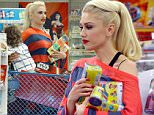 Studio City, CA - Gwen Stefani shows off her unique style on a visit to Toys R Us with her children Apollo and Kingston. Gwen rocked an awesome pony tail, red and blue stripes, a denim button up, plaid pants, and bright yellow loafers as she carried a handful of Play-Doh and after, a tired Apollo.\n \nAKM-GSI  April 16, 2016\nTo License These Photos, Please Contact :\nSteve Ginsburg\n(310) 505-8447\n(323) 423-9397\nsteve@akmgsi.com\nsales@akmgsi.com\nor\nMaria Buda\n(917) 242-1505\nmbuda@akmgsi.com\nginsburgspalyinc@gmail.com
