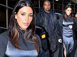 Mandatory Credit: Photo by Buzz Foto/REX/Shutterstock (5647653d)\nKim Kardashian and Kanye West\nKim Kardashian and Kanye West out and about, New York, America - 16 Apr 2016\n Kim Kardashian and Kanye West are seen leaving a Photo Studio in Chelsea\n