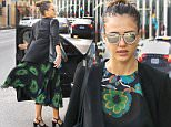 *EXCLUSIVE* Beverly Hills, CA - Jessica Alba looks beautiful on windy, sunny California day in peacock color dress after leaving SoulCycle gym class.\nAKM-GSI          April 15, 2016\nTo License These Photos, Please Contact :\nSteve Ginsburg\n(310) 505-8447\n(323) 423-9397\nsteve@akmgsi.com\nsales@akmgsi.com\nor\nMaria Buda\n(917) 242-1505\nmbuda@akmgsi.com\nginsburgspalyinc@gmail.com