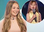 EDITORIAL USE ONLY. NO MERCHANDISING Mandatory Credit: Photo by Ken McKay/ITV/REX/Shutterstock (5647353bd) Connie Talbot 'Loose Women' TV show, London, Britain - 15 Apr 2016
