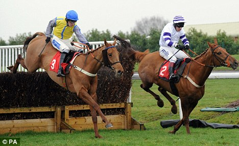Anxious wait: Maguire and Cool Mission (left) finished second at Doncaster