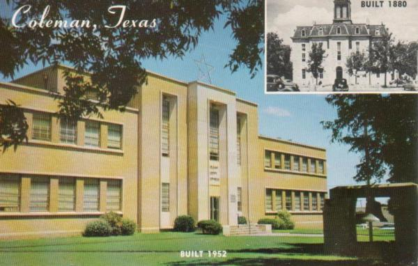 Coleman County Courthouse, Coleman, Texas 1960s