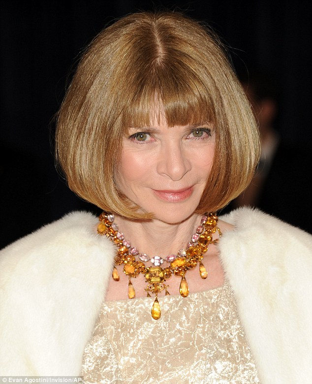 Always chic: The American Vogue Editor-In-Chief showed off her sophisticated bob