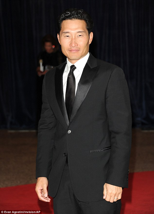 Hunky guy: Actor Daniel Dae Kim looked broodingly handsome as he looked into the camera with a smouldering gaze
