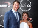LOS ANGELES, CA, USA - JULY 15: 2015 ESPY Awards held at the Microsoft Theater LA Live on July 15, 2015 in Los Angeles, California.  (Photo by Xavier Collin/Image Press)....Pictured: Andrew East, Shawn Johnson..Ref: SPL1080190  150715  ..Picture by: Xavier Collin/Image Press....Splash News and Pictures..Los Angeles: 310-821-2666..New York: 212-619-2666..London: 870-934-2666..photodesk@splashnews.com..