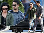 EXCLUSIVE: Demi Lovato and Wilmer Valderrama have a dinner date at Cafe Habana in Malibu, Demi and Wilmer looked very happy together as they walk arm-in-arm as Demi walk her dog.\n\nPictured: Demi Lovato and Wilmer Valderrama\nRef: SPL1265662  160416   EXCLUSIVE\nPicture by: Clint Brewer / Splash News\n\nSplash News and Pictures\nLos Angeles: 310-821-2666\nNew York: 212-619-2666\nLondon: 870-934-2666\nphotodesk@splashnews.com\n