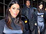 Mandatory Credit: Photo by Buzz Foto/REX/Shutterstock (5647653d)\nKim Kardashian and Kanye West\nKim Kardashian and Kanye West out and about, New York, America - 16 Apr 2016\n Kim Kardashian and Kanye West are seen leaving a Photo Studio in Chelsea\n