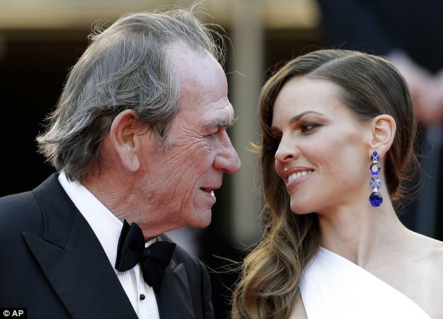 Chemistry: Swank and director/star Tommy Lee Jones won rave reviews for their onscreen chemistry in the flick