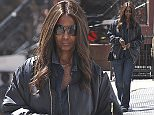 EXCLUSIVE TO INF. April 17, 2016: Former model Iman and wife of the late David Bowie, was photographed in the Soho section of New York City this morning looking cool and casual in a leather coat and denim jeans.\nMandatory Credit: INFphoto.com  Ref: \ninfusny-198