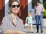 Brentwood, CA - Actress and busy mom Jennifer Garner is all smiles after enjoying breakfast at the Brentwood Country Mart with her son Samuel. The busy mother of three celebrated her 44th birthday yesterday.\nAKM-GSI       April 18, 2016\nTo License These Photos, Please Contact :\nSteve Ginsburg\n(310) 505-8447\n(323) 423-9397\nsteve@akmgsi.com\nsales@akmgsi.com\nor\nMaria Buda\n(917) 242-1505\nmbuda@akmgsi.com\nginsburgspalyinc@gmail.com