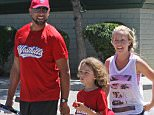 EXCLUSIVE: Happy Kendra Wilkinson and Hank Baskett attend a baseball of their son Hank Jr on a warm sunny Sunday in Los Angeles.  Pictured: Hank Baskett, Kendra Wilkinson Ref: SPL1265917  170416   EXCLUSIVE Picture by: Lauren / Splash News  Splash News and Pictures Los Angeles: 310-821-2666 New York: 212-619-2666 London: 870-934-2666 photodesk@splashnews.com