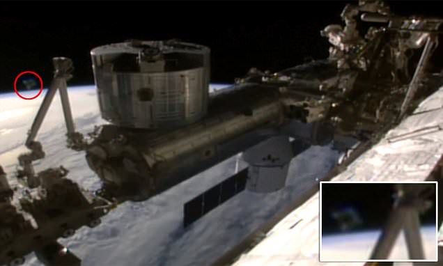 Nasa live feed video from the ISS captures a 'UFO' above the Earth