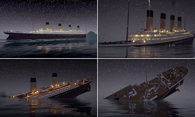 Re-live the sinking of the Titanic in real time video