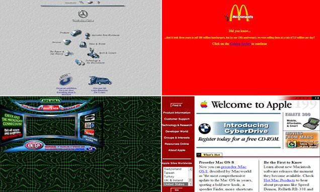 Apple, McDonalds and Pepsi's old 90s websites show how far technology has come