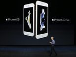 FILE - In this Wednesday, Sept. 9, 2015, file photo, Apple CEO Tim Cook discusses the new iPhone 6s and iPhone 6s Plus during the Apple event at the Bill Graham Civic Auditorium in San Francisco. Most analysts believe Apple surpassed its own record by selling more than 74.5 million iPhones in the final three months of 2015. But there are signs that iPhone sales in the first three months of 2016 will show an abrupt decline from the same period a year earlier. (AP Photo/Eric Risberg, File)