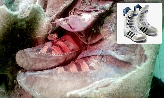 Conspiracy theorists believe Mongolian mummy 'wearing Adidas' is proof of time travel