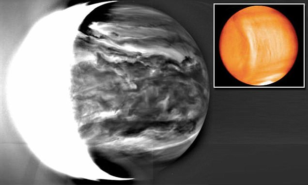 Japanese Akatsuki space craft reveals first images of Venus shows dense clouds