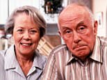TELEVISION PROGRAMME... One Foot In The Grave; Annette Crosbie pictured as Margaret, with Richard Wilson as Victor Meldrew, in the BBC sitcom.