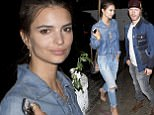 EXCLUSIVE: Emily Ratajkowski seen with a mystery guy and got camera shy as they left the Chateau Marmot Hotel together in West Hollywood, CA <P> Pictured: Emily Ratajkowski <B>Ref: SPL1265700  190416   EXCLUSIVE</B><BR/> Picture by: SPW / Splash News<BR/> </P><P> <B>Splash News and Pictures</B><BR/> Los Angeles: 310-821-2666<BR/> New York: 212-619-2666<BR/> London: 870-934-2666<BR/> photodesk@splashnews.com<BR/> </P>