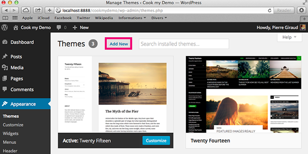 add a new template to your wordpress blog