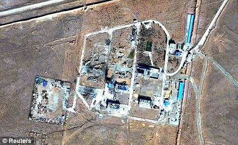 'Spying': A satellite image apparently shows the Natanz nuclear plant in Iran