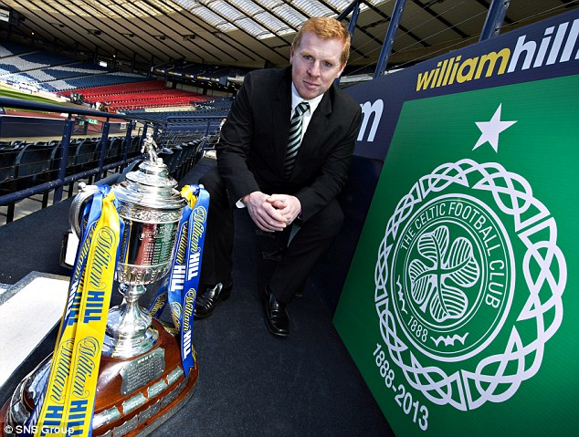 Up for the cup: Lennon, who will lead Celtic out at Hampden for the Scottish Cup final against Hibs on Sunday, tried to talk Commons out of quitting international football