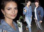 EXCLUSIVE: Emily Ratajkowski seen with a mystery guy and got camera shy as they left the Chateau Marmot Hotel together in West Hollywood, CA  Pictured: Emily Ratajkowski Ref: SPL1265700  190416   EXCLUSIVE Picture by: SPW / Splash News  Splash News and Pictures Los Angeles: 310-821-2666 New York: 212-619-2666 London: 870-934-2666 photodesk@splashnews.com