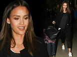 Jessica Alba is seen at LAX in Los Angeles, California.\n\nPictured: Jessica Alba\nRef: SPL1266911  190416  \nPicture by: GVK/Bauergriffin.com\n\n