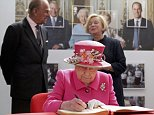 Queen Elizabeth II and Prince Philip, Duke of Edinburgh visit the Queen Elizabeth II delivery office in Windsor with Prince Philip, Duke of Edinburgh on April 20, 2016 in Windsor, Britain. The visit marks the 500th Anniversary of the Royal Mail delivery service. The Queen and Duke of Edinburgh are carrying out engagements in Windsor ahead of the Queen's 90th Birthday tommorow.  REUTERS/Chris Jackson/Pool