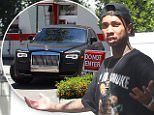 Tyga gets in and out