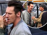 """EXCLUSIVE: Antonio Banderas and Jonathan Rhys-Meyers filming """"Black Butterfly"""" in Subiaco, Italy\n\nPictured: Jonathan Rhys-Meyers\nRef: SPL1267129  200416   EXCLUSIVE\nPicture by: O.Palombi /F.Coccia/Splash News\n\nSplash News and Pictures\nLos Angeles: 310-821-2666\nNew York: 212-619-2666\nLondon: 870-934-2666\nphotodesk@splashnews.com\n"""