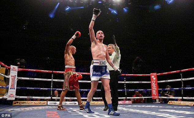Back on track: Tony Bellew beat Isaac Chilemba in their rematch, a world title eliminator