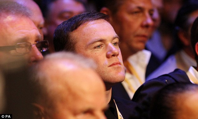 Wide interest: Wayne Rooney made the trip down from Manchester to catch the boxing